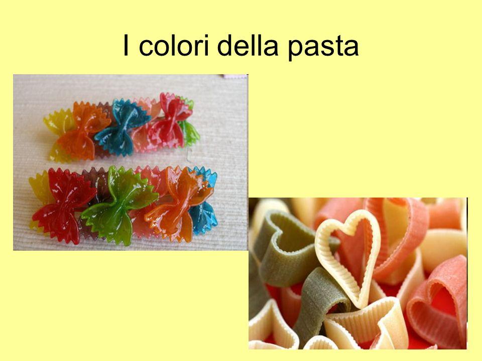 I colori della pasta