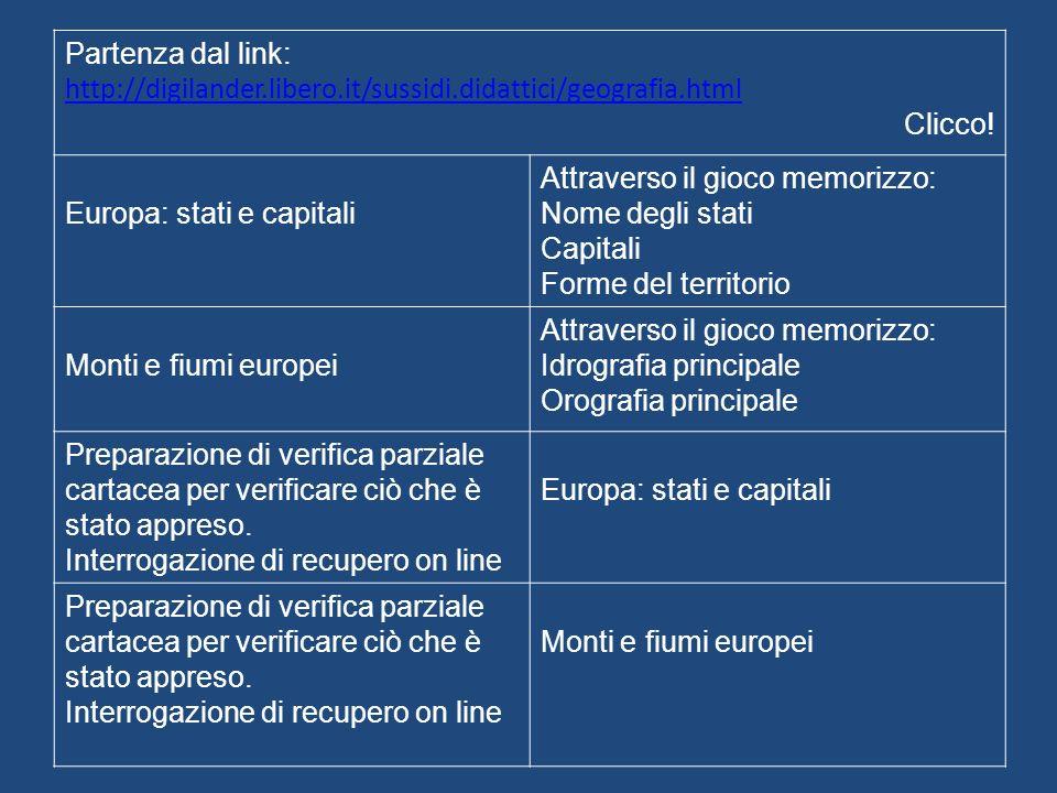 Partenza dal link: http://digilander.libero.it/sussidi.didattici/geografia.html Clicco.