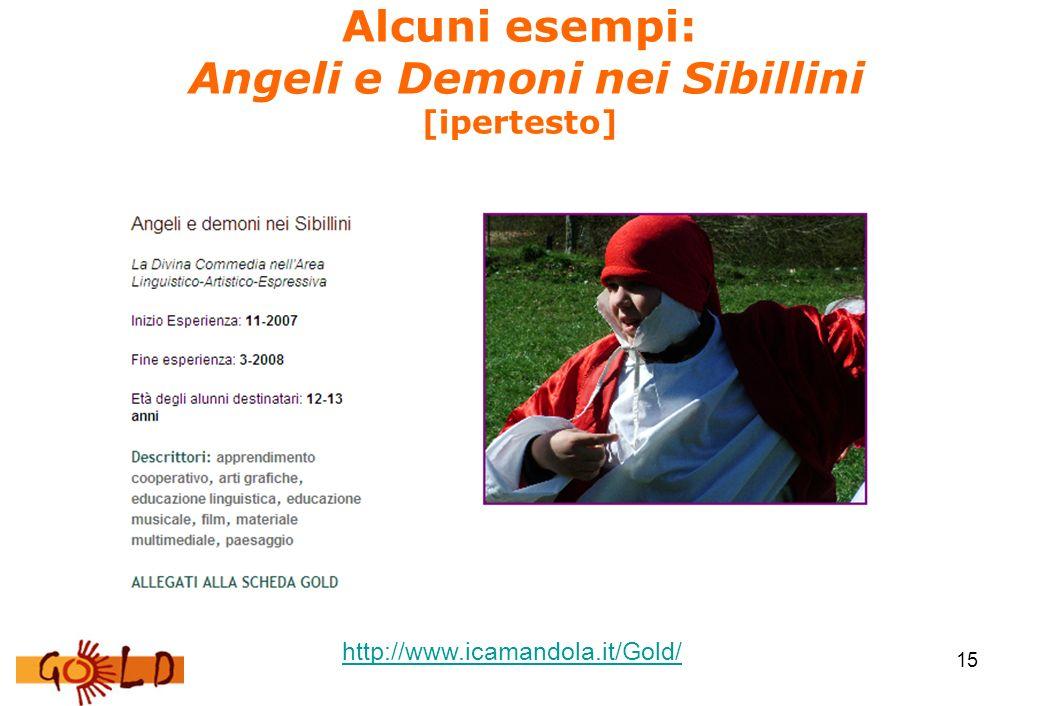 15 Alcuni esempi: Angeli e Demoni nei Sibillini [ipertesto] http://www.icamandola.it/Gold/