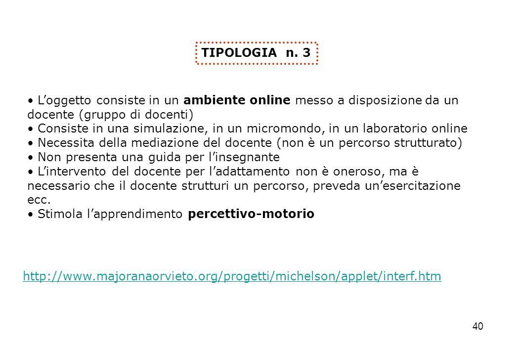 40   TIPOLOGIA n.