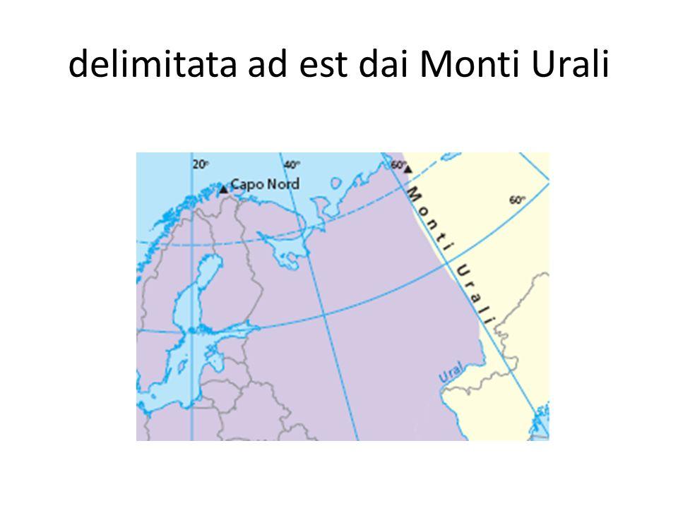 delimitata ad est dai Monti Urali