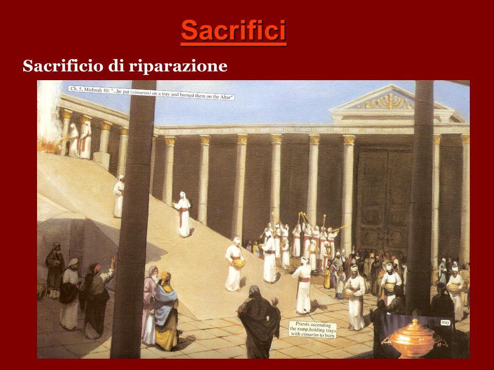 Sacrificio dei cibi (frumenti) Sacrificio di Comunione Olocausto Per il peccato Sacrificio di riparazione Sacrificio di Gesù Cristo euvcaristi,a