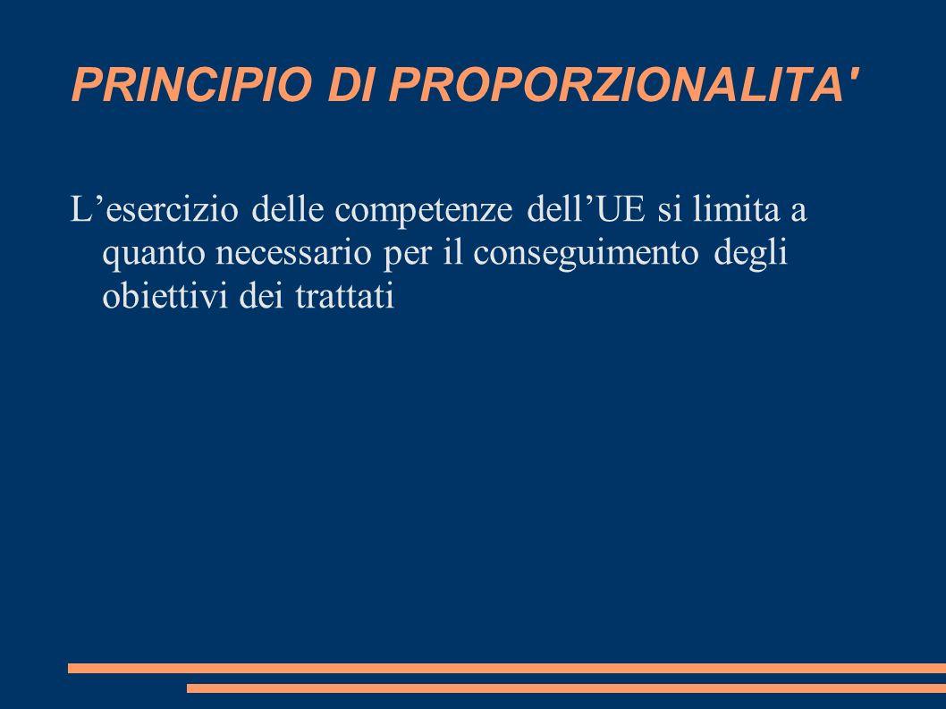 Competenze esclusive (articolo 3 TFUE) Solo lUE può legiferare e adottare atti vincolanti in questi settori.