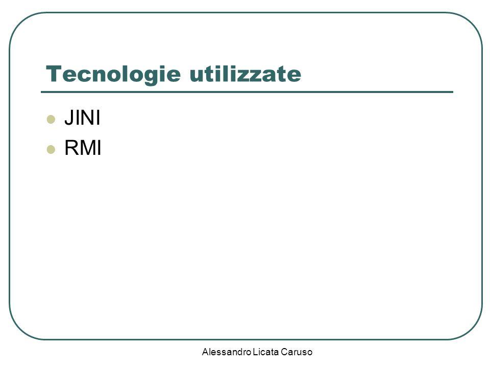 Alessandro Licata Caruso Tecnologie utilizzate JINI RMI