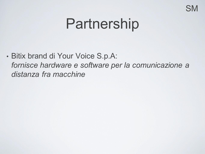 SM Partnership Bitix brand di Your Voice S.p.A: fornisce hardware e software per la comunicazione a distanza fra macchine