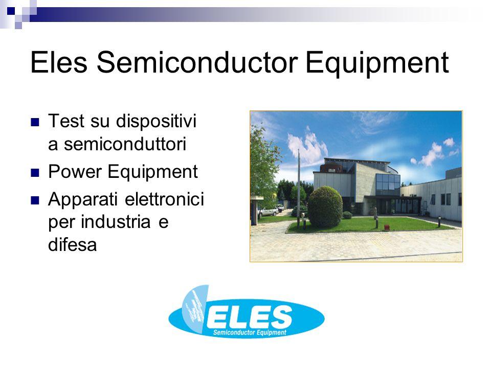 Eles Semiconductor Equipment Test su dispositivi a semiconduttori Power Equipment Apparati elettronici per industria e difesa