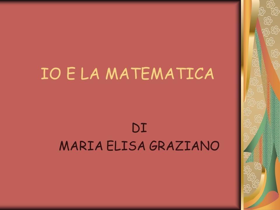 Il mio rapporto con la matematica inizia ….