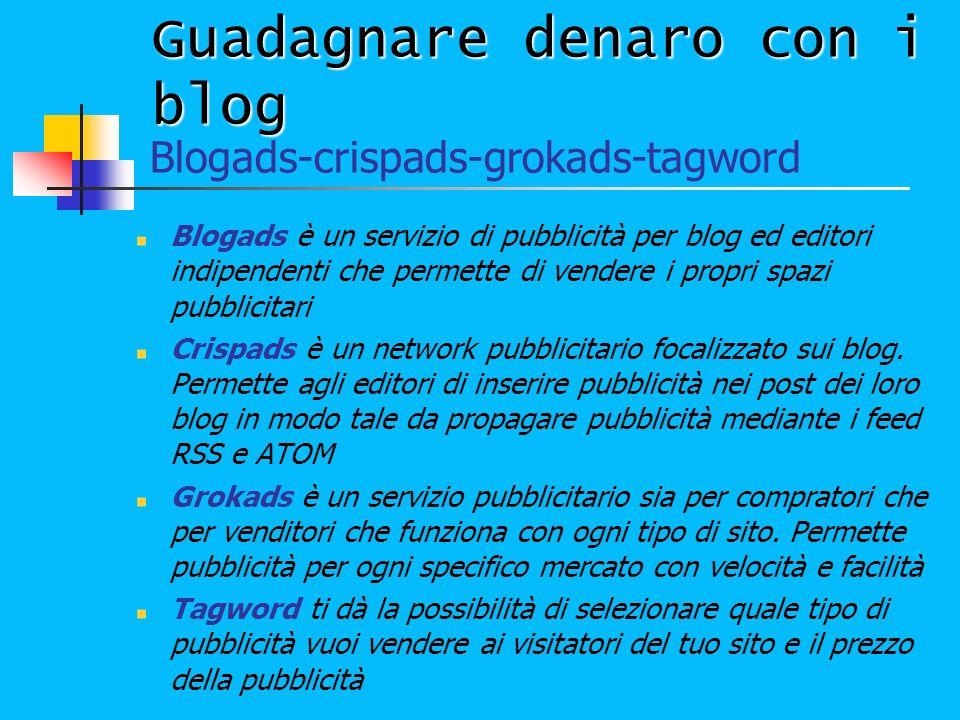 Guadagnare denaro con i blog Blogads è un servizio di pubblicità per blog ed editori indipendenti che permette di vendere i propri spazi pubblicitari
