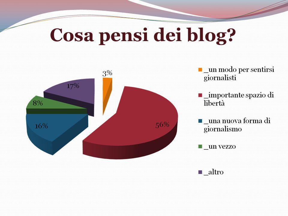 Cosa pensi dei blog?