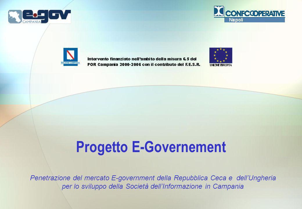 Progetto E-Governement Penetrazione del mercato E-government della Repubblica Ceca e dellUngheria per lo sviluppo della Società dellInformazione in Ca