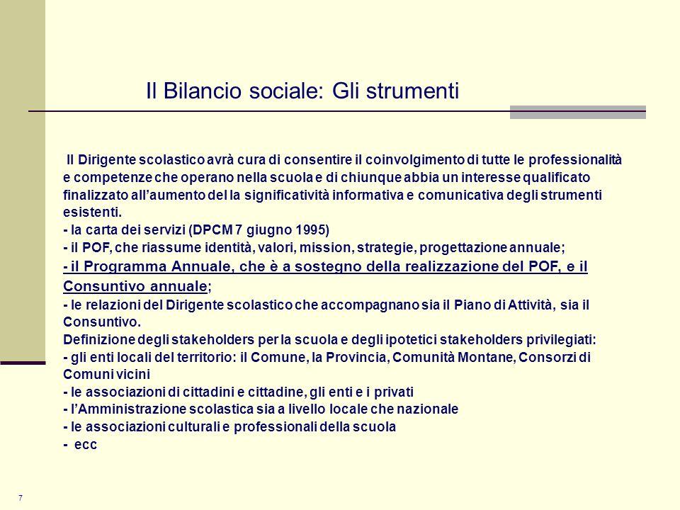8 Il Bilancio sociale: le fasi 1.