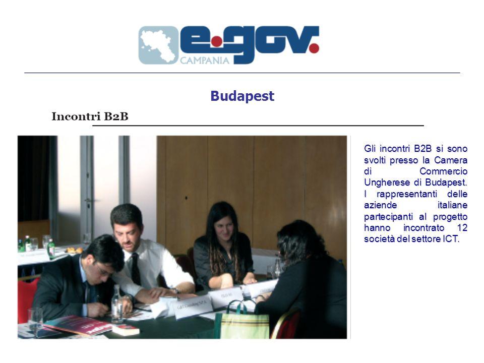 Budapest Gli incontri B2B si sono svolti presso la Camera di Commercio Ungherese di Budapest.