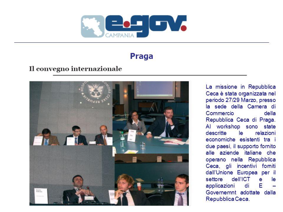 Praga La missione in Repubblica Ceca è stata organizzata nel periodo 27/29 Marzo, presso la sede della Camera di Commercio della Repubblica Ceca di Praga.