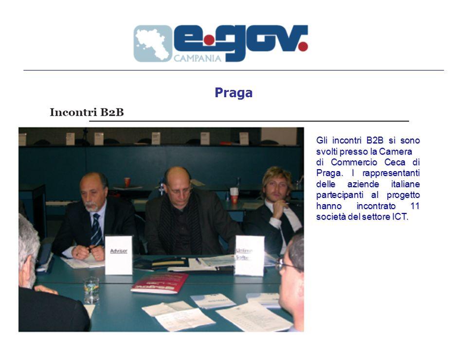 Praga Gli incontri B2B si sono svolti presso la Camera di Commercio Ceca di Praga.