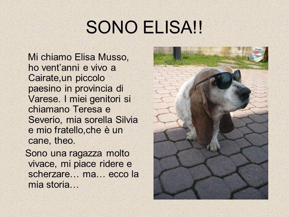 SONO ELISA!! Mi chiamo Elisa Musso, ho ventanni e vivo a Cairate,un piccolo paesino in provincia di Varese. I miei genitori si chiamano Teresa e Sever