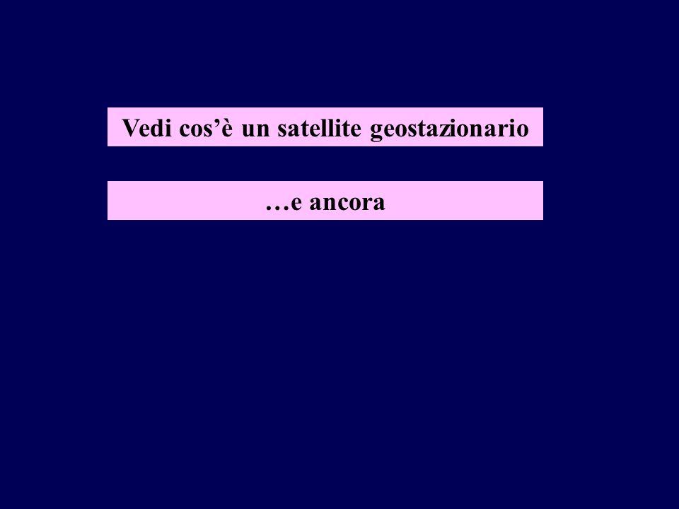 Vedi cosè un satellite geostazionario …e ancora