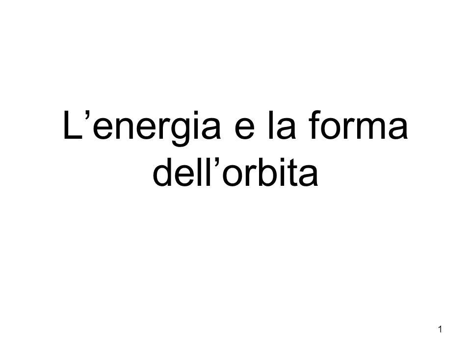 Sistema legato – Stistema libero Energia meccanica: E = K + U E 0 sistema libero Orbite aperte E < 0 sistema legato Orbite chiuse 12