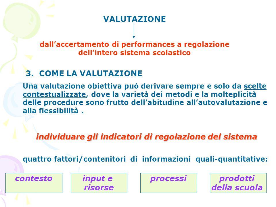 3. COME LA VALUTAZIONE Una valutazione obiettiva può derivare sempre e solo da scelte contestualizzate, dove la varietà dei metodi e la molteplicità d