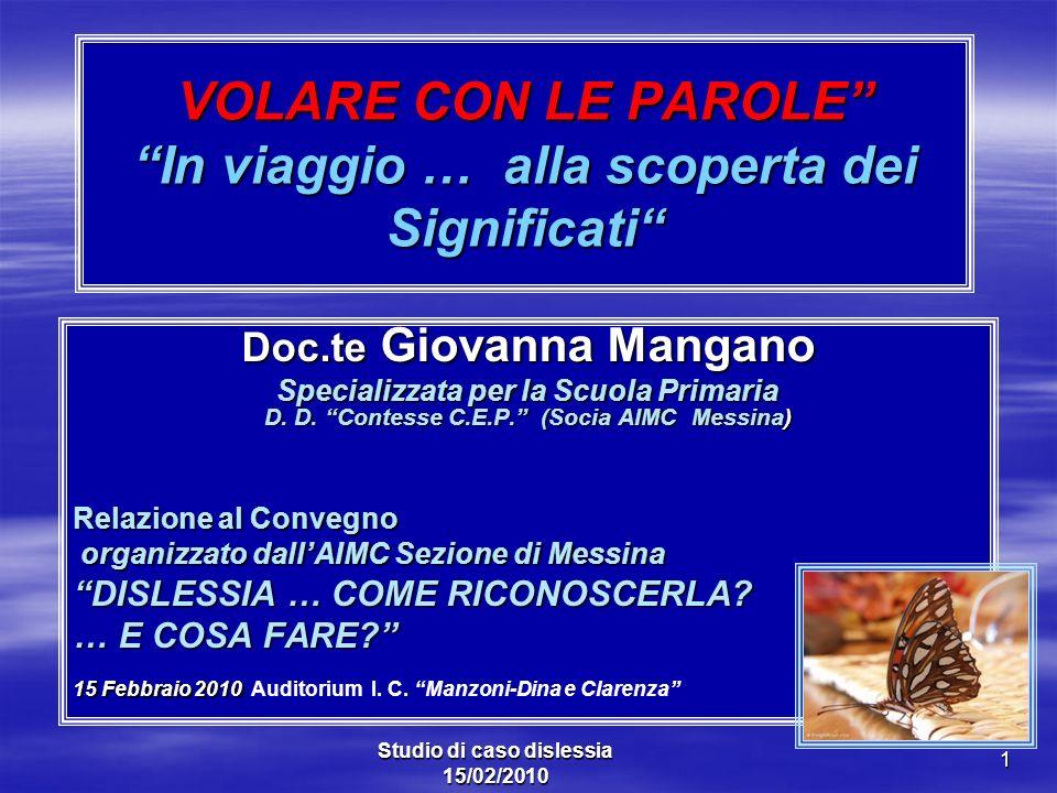 Doc.te Giovanna Mangano Specializzata per la Scuola Primaria D. D. Contesse C.E.P. (Socia AIMC Messina) Relazione al Convegno organizzato dallAIMC Sez