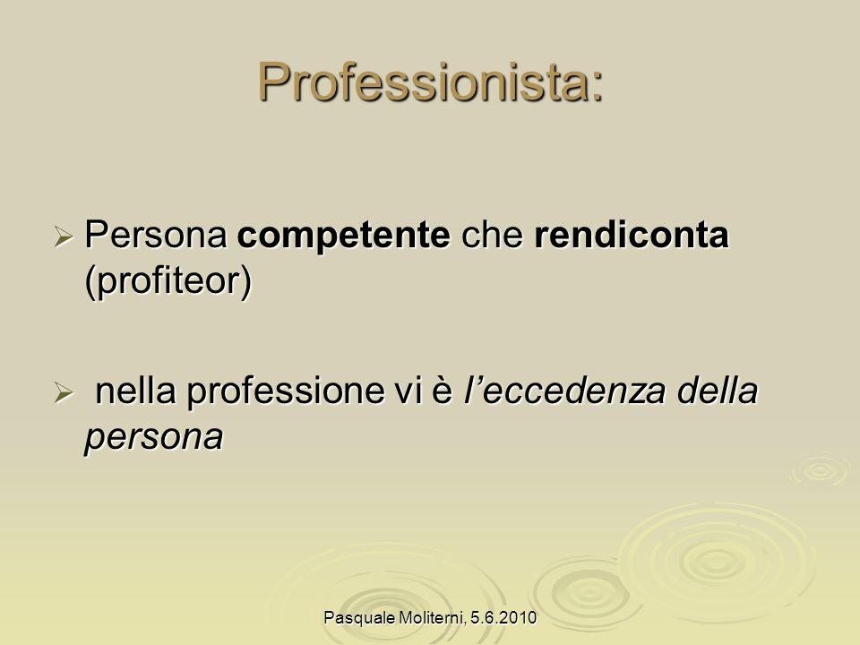 Pasquale Moliterni, 5.6.2010 Insegnante professionista entra in relazione entra in relazione attiva relazioni attiva relazioni facilita relazioni facilita relazioni
