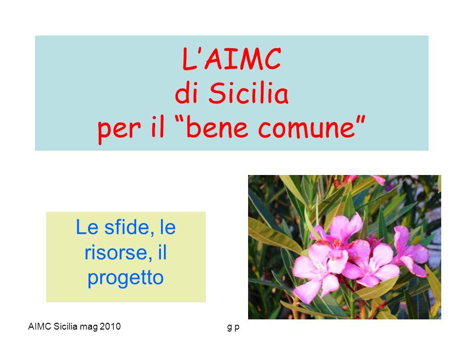 AIMC Sicilia mag 2010g p LAIMC di Sicilia per il bene comune Le sfide, le risorse, il progetto