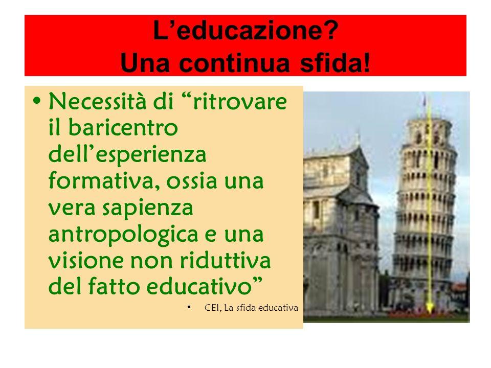 Leducazione. Una continua sfida.