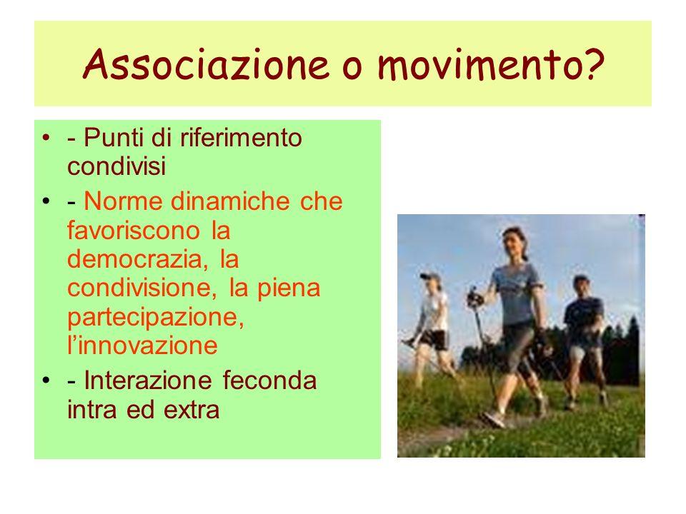 Associazione o movimento.