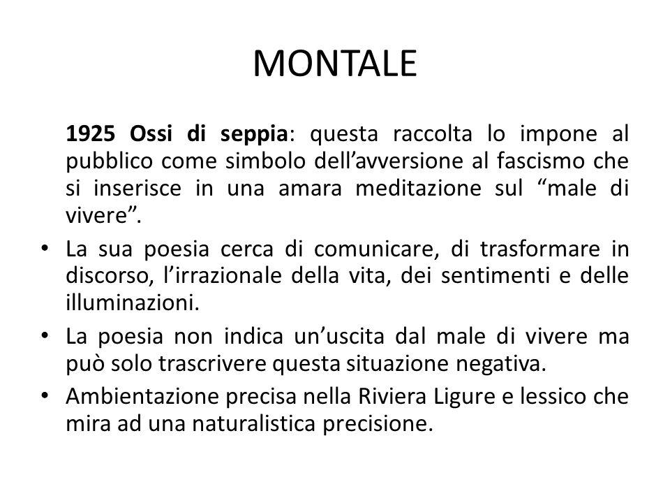 MONTALE (2) 1939 Le Occasioni.