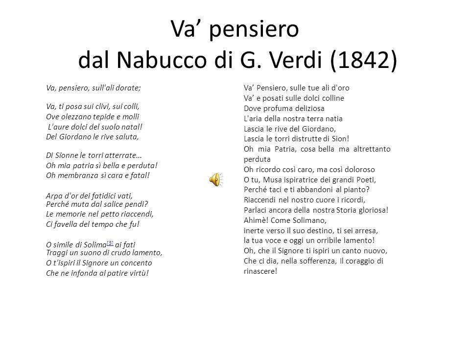 Va pensiero dal Nabucco di G.