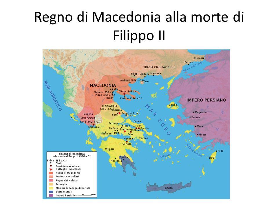 Regno di Macedonia alla morte di Filippo II