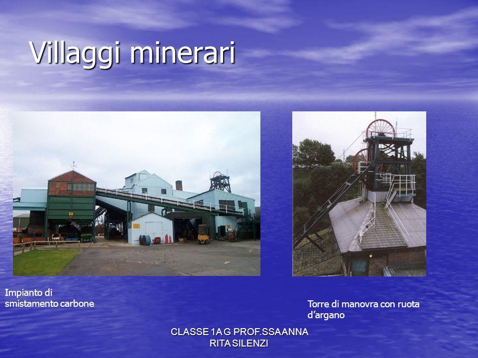 CLASSE 1A G PROF.SSA ANNA RITA SILENZI Villaggi minerari Torre di manovra con ruota dargano Impianto di smistamento carbone