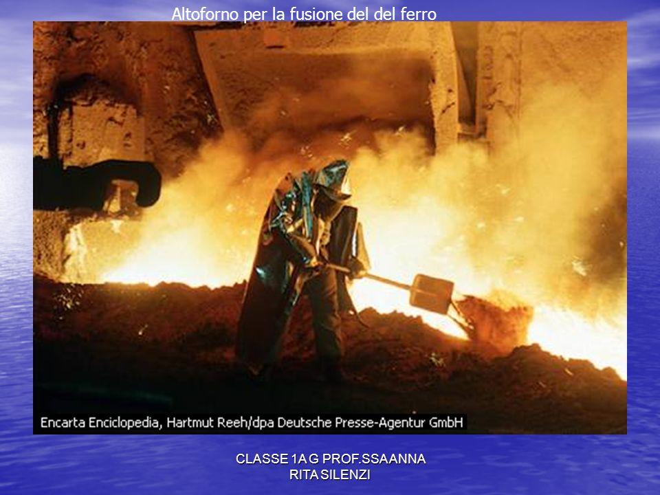 CLASSE 1A G PROF.SSA ANNA RITA SILENZI Altoforno per la fusione del del ferro
