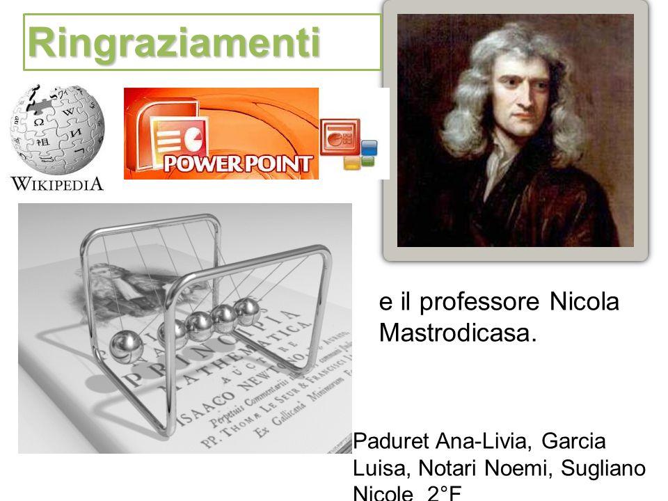 Paduret Ana-Livia, Garcia Luisa, Notari Noemi, Sugliano Nicole 2°F Ringraziamenti e il professore Nicola Mastrodicasa.