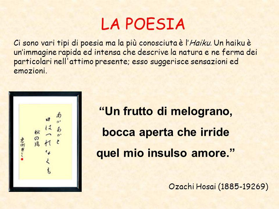 LA POESIA Ci sono vari tipi di poesia ma la più conosciuta è lHaiku. Un haiku è unimmagine rapida ed intensa che descrive la natura e ne ferma dei par