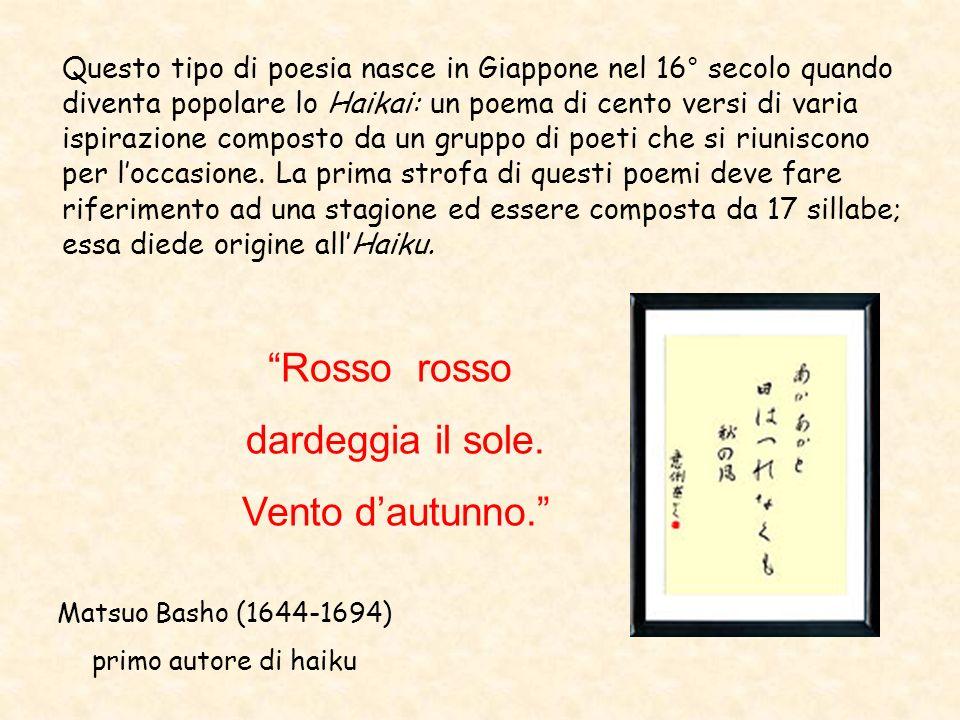 Questo tipo di poesia nasce in Giappone nel 16° secolo quando diventa popolare lo Haikai: un poema di cento versi di varia ispirazione composto da un