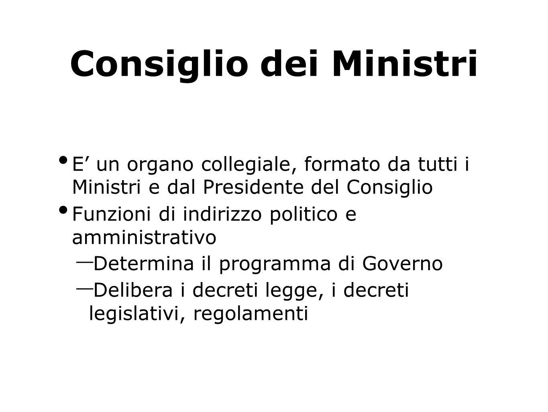 Formazione di un nuovo Governo Si deve formare un nuovo Governo dopo: - le elezioni politiche del Parlamento - dopo una crisi di Governo