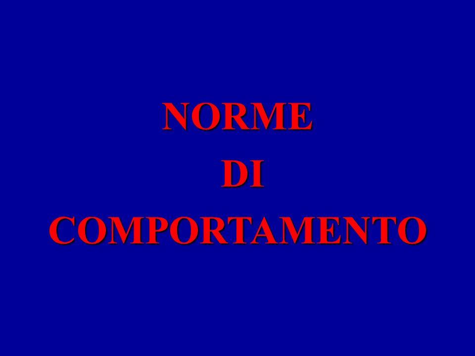 NORME COMPORTAMENTO