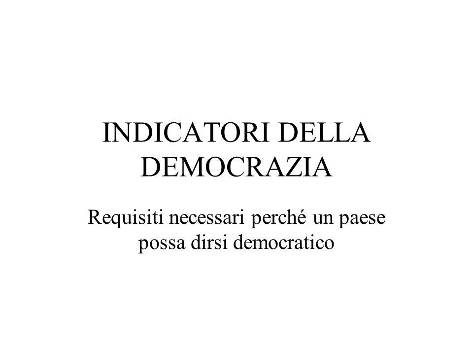 DEMOCRAZIA può essere sia DIRETTA Il popolo prende direttamente le decisioni politiche RAPPRESENTATIVA Le decisioni vengono prese dai rappresentanti del popolo liberamente eletti