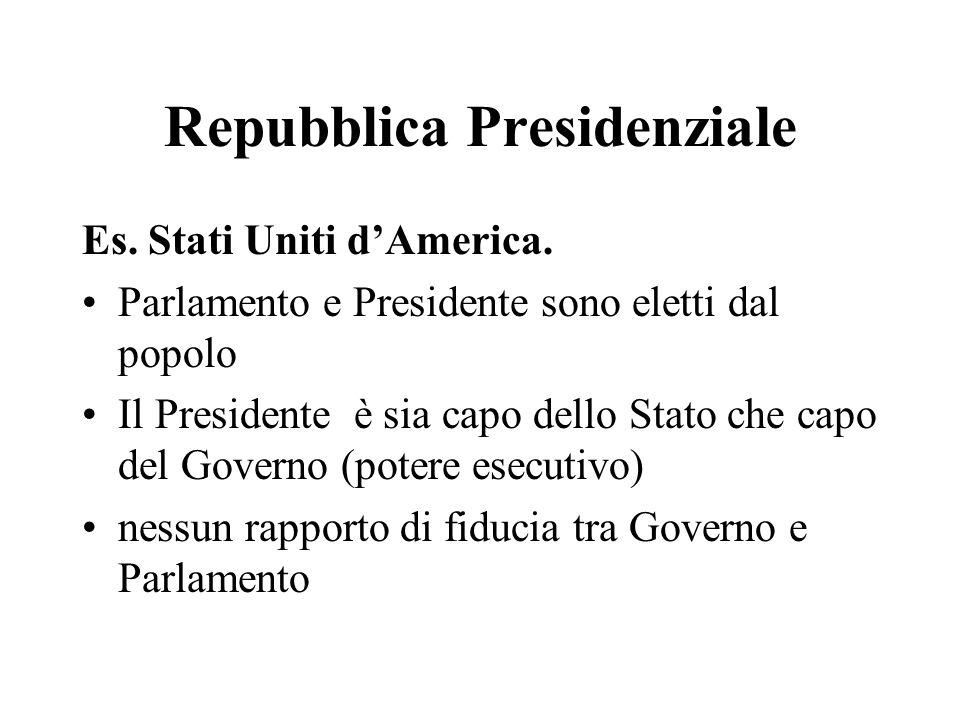 REPUBBLICA PRESIDENZIALE.