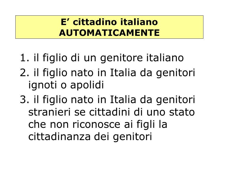 Modi di acquisto della cittadinanza italiana AutomaticamenteSu richiesta