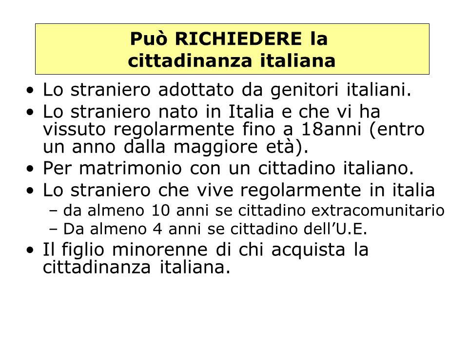 1.il figlio di un genitore italiano 2. il figlio nato in Italia da genitori ignoti o apolidi 3.