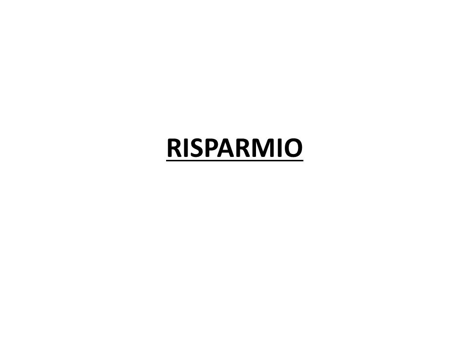 RISPARMIO