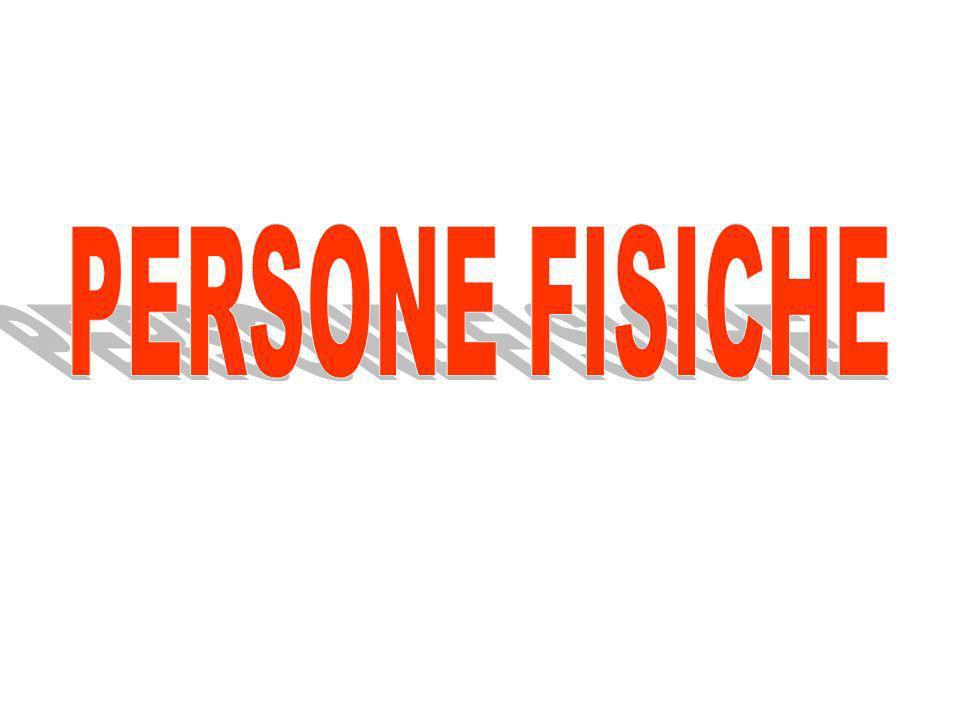 PERSONE FISICHE = esseri umani Giuridica Dagire