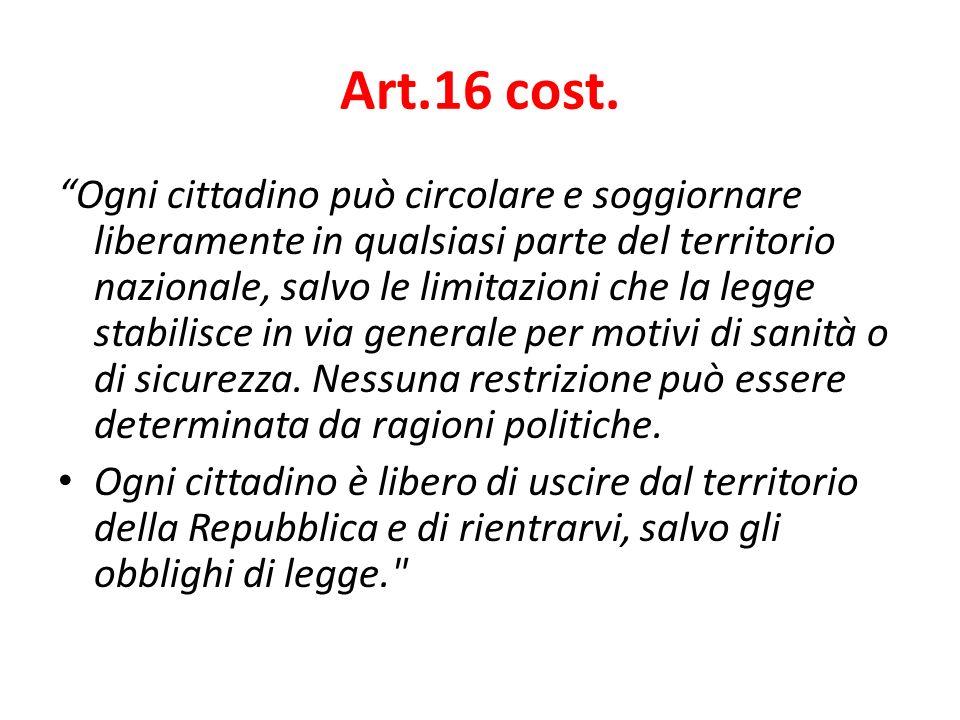 Art.16 cost.