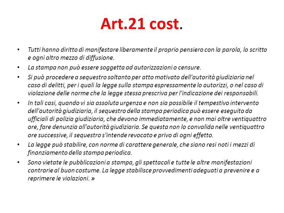 Art.21 cost.