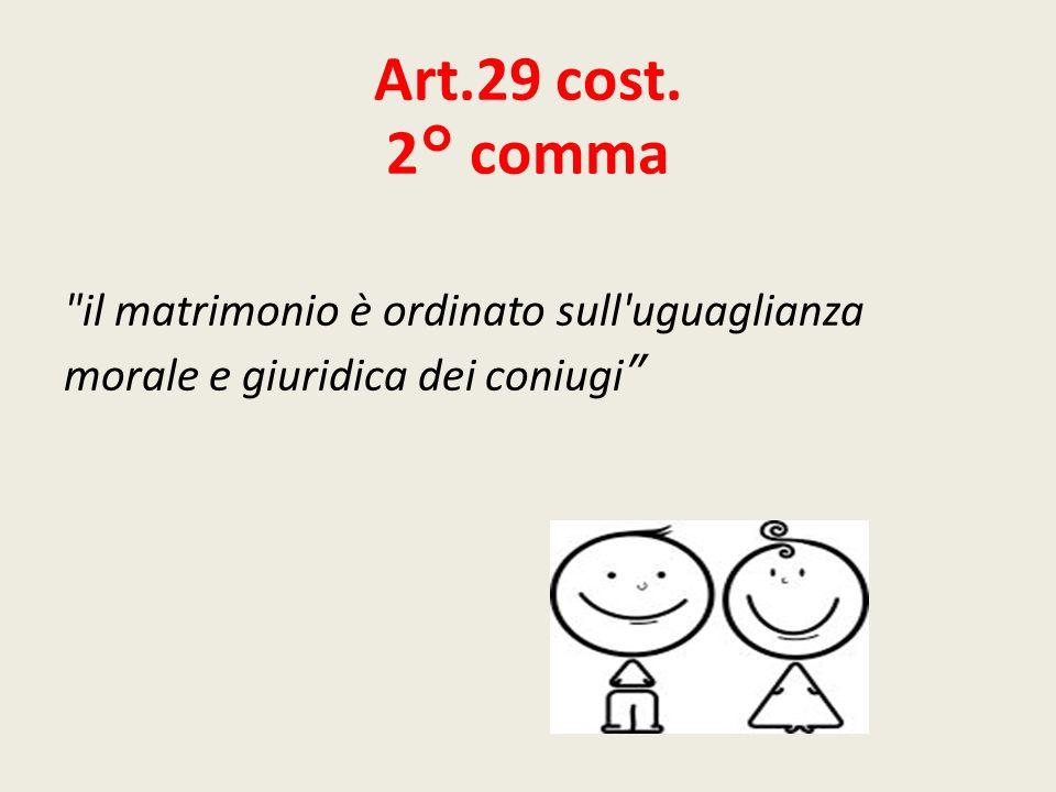 Art.29 cost. 2° comma