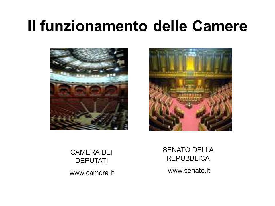 Struttura ed organizzazione Due Camere: Camera dei Deputati Senato della Repubblica Bicameralismo perfetto = Camera e Senato hanno le stesse funzioni e uguali poteri.