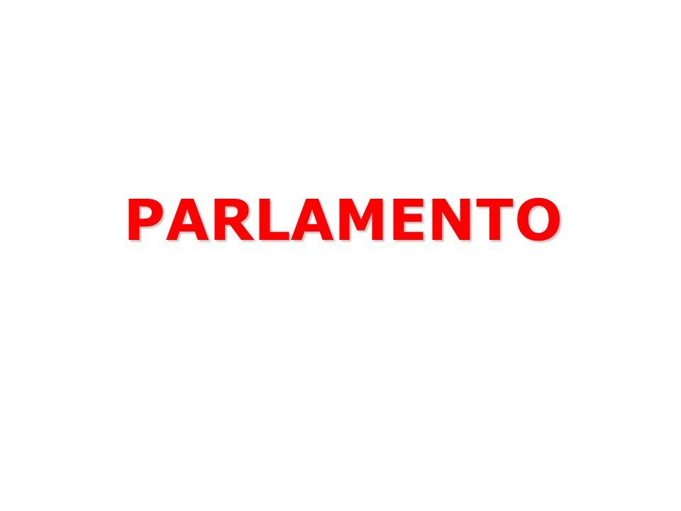 Il Parlamento italiano è formato da due Camere CAMERA DEI DEPUTATI SENATO DELLA REPUBBLICA