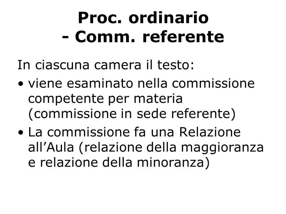 Proc. ordinario - Comm.