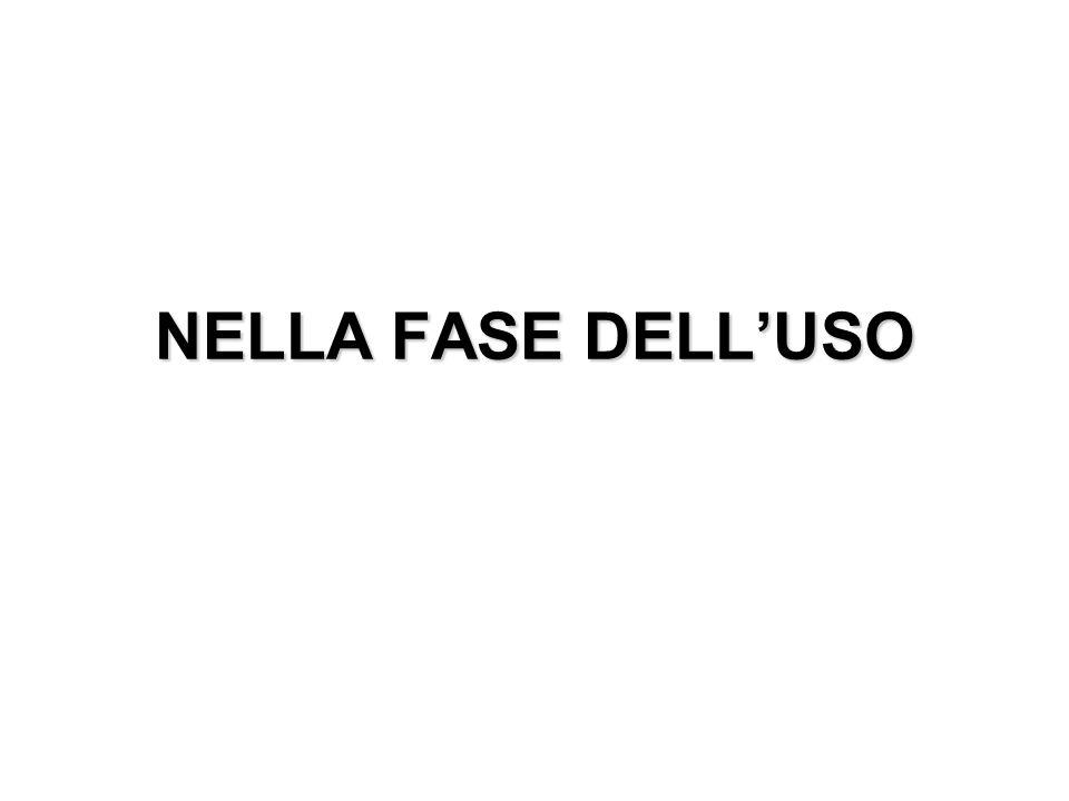 NELLA FASE DELLUSO